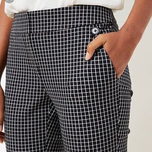 Loft Black and White Checked Pants